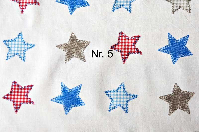 Liege-/Wärmekissen Nr. 5 Sterne rot blau
