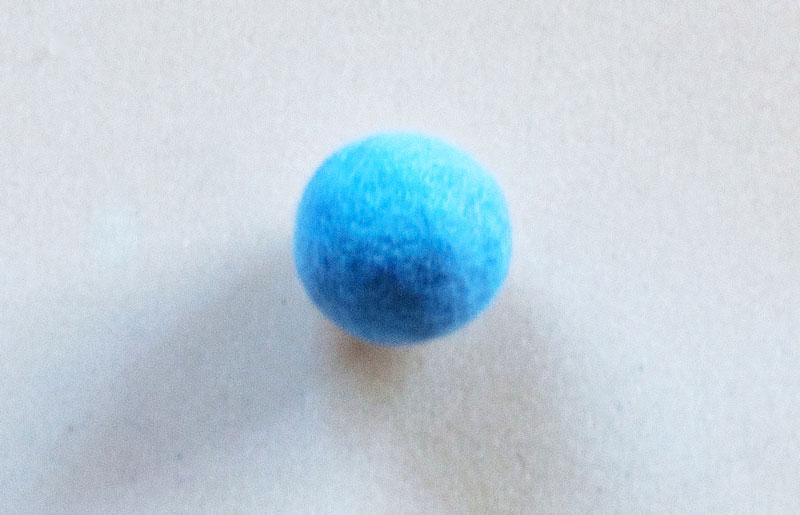 Rasselball pastellblau
