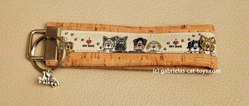 Schlüsselanhänger I love my dog mit Anhänger I love my dog