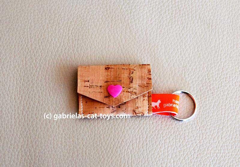 Münztäschlein mit rosa Herzchen